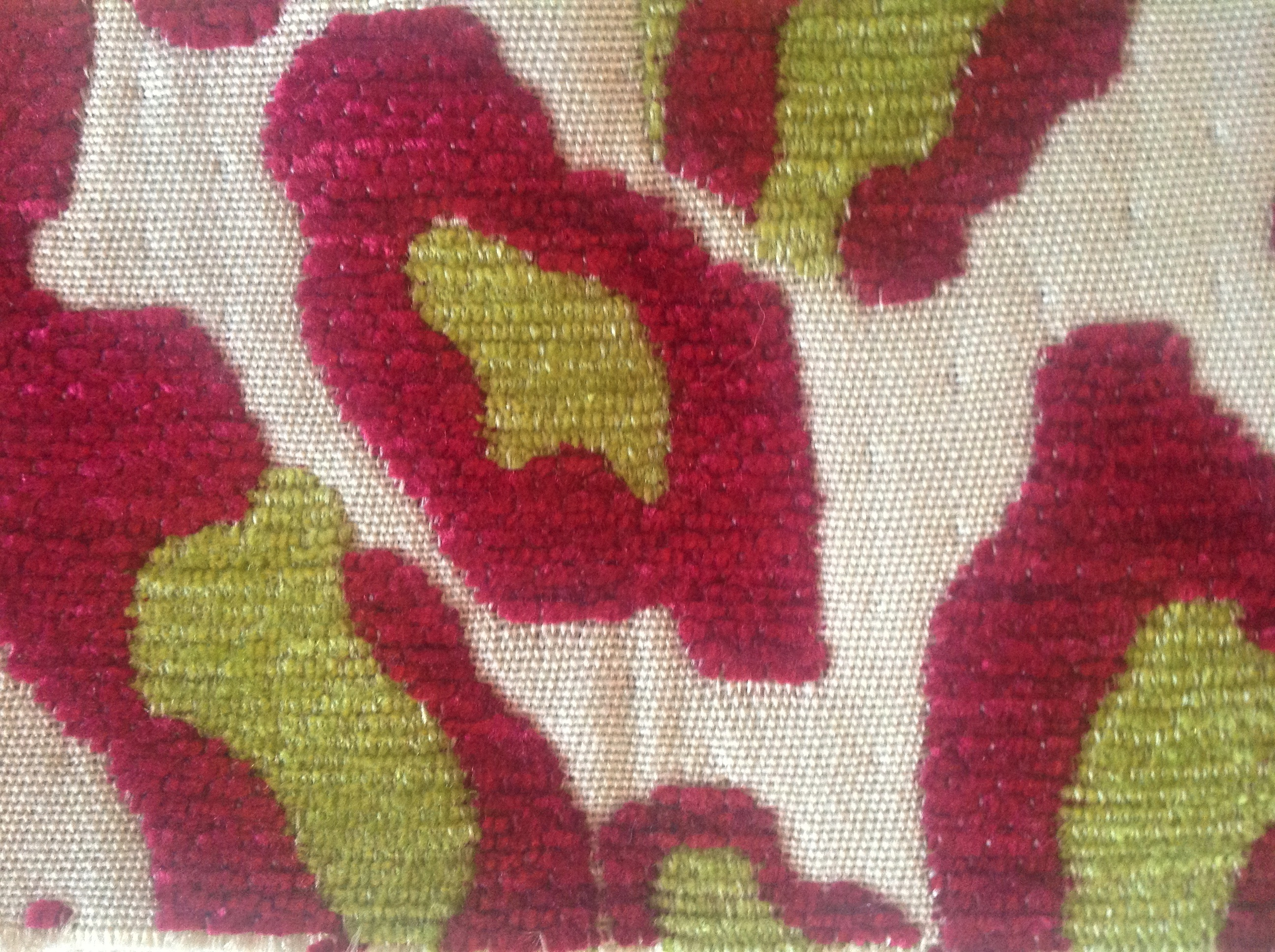 Animal print fabric in raspberry and lime green for  chair seats !