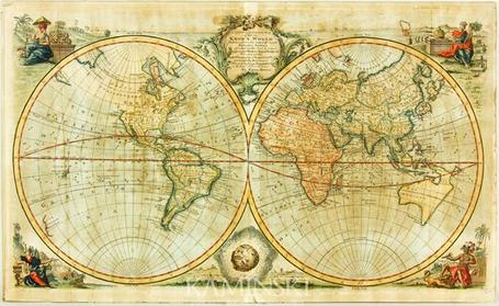 Bowen Early Map of World