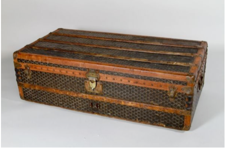 Antique Labeled French Trunk E.Goyard, Paris