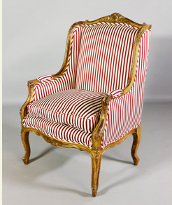 19th century, French Bergere armchair