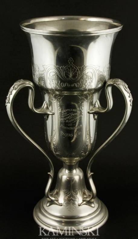 Art Nouveau Silver-Plated Trophy