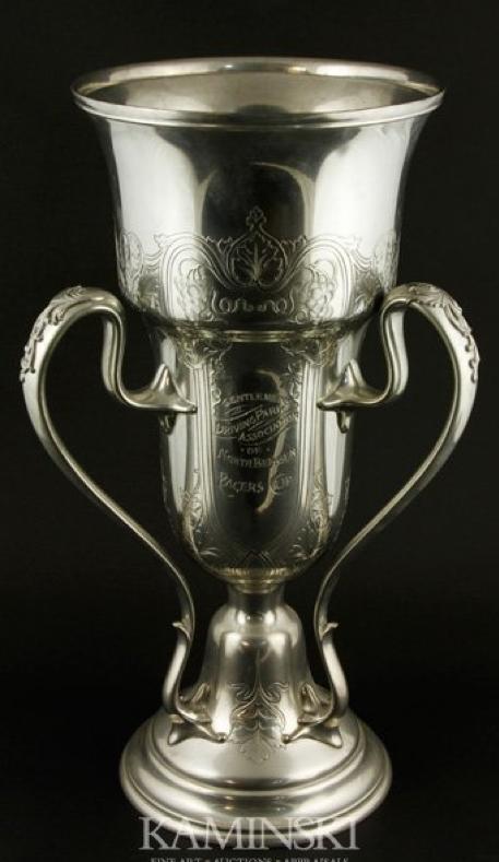 Art Nouveau Silver-Plated Trophy