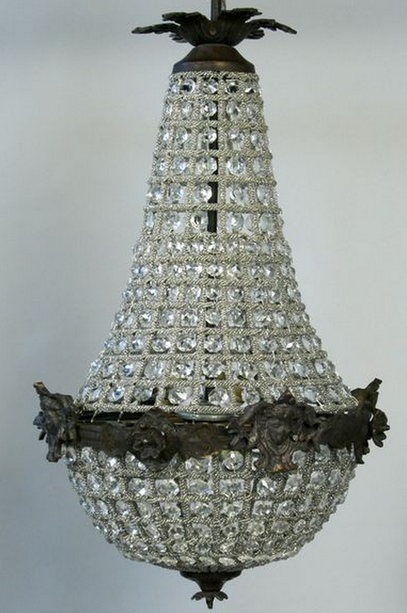 French Empire Crystal Chandelier $425