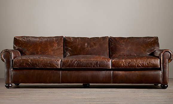 "84"" RH Lancaster Leather Sofa $3495 - $4285"