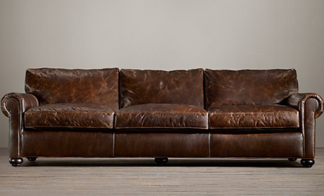 "84"" RH Lancaster  Leather Sofa $3495 - $4285"