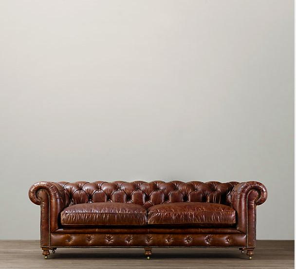 """98"""" Kensington Leather Sofa $3795 - $4615"""
