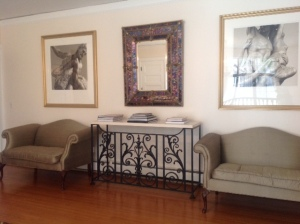 Upstairs Foyer with New Console Table