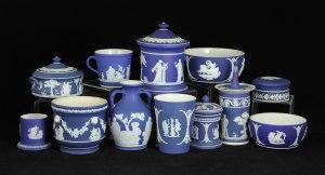 Lot# 7305 Lot of twelve blue and white Wedgwood Jasperware items