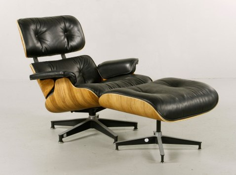 Lot #-2067Charles and Ray Eames for Herman Miller chair and ottoman