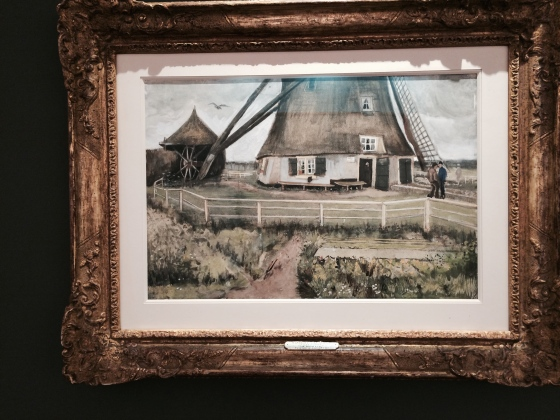 Vincent van Gogh -The Laakmolen near The Hague c.10-15 July 1882