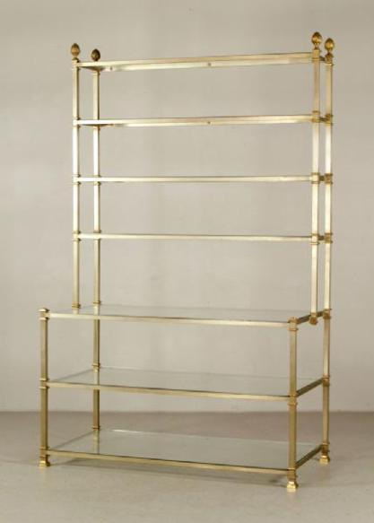 Lot#-8385-Brass Baker's Stand