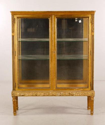 Lot#-8212 French Glass Cabinet