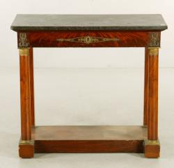 Lot 8110-19th Century Marble Top Pier Table